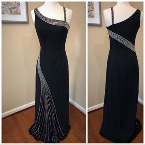 Black beaded gown/prom dress